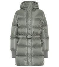 Kenzo Belted Puffer Jacket Grey