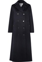 Mackintosh Montrose Belted Cashmere Trench Coat Navy