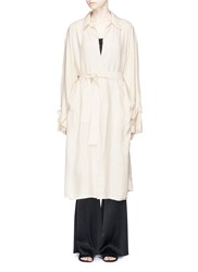 Ms Min Belted Soft Trench Coat White