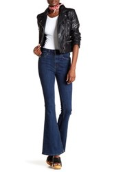 Free People High Rise Flared Jean Blue