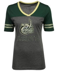 Colosseum Women's Charlotte 49Ers Mctwist T Shirt Charcoal