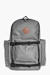 Boohoo Canvas Rucksack With Strap Detail Grey