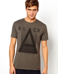 Esprit T Shirt With Triangle Print Grey