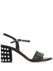 Albano Studded Sandals Black
