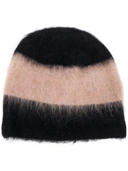 Alexander Wang T By Striped Beanie Black