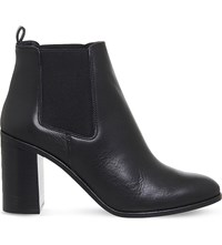 Office Logo Leather Chelsea Boots Black Leather