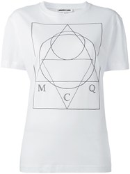 Mcq By Alexander Mcqueen Stylised Print T Shirt White