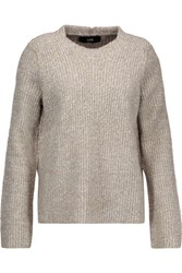 Line Mirabel Marled Ribbed Knit Sweater Mushroom