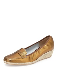 Meryl Metallic Loafer Wedge Bronze Sesto Meucci
