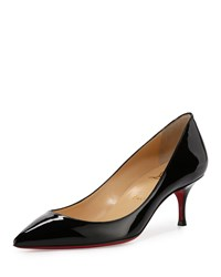 Christian Louboutin Pigalle Follies 55Mm Patent Red Sole Pump Black Women's Size 42.5B 12.5B