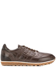 Alberto Fasciani Perforated Detail Sneakers Brown