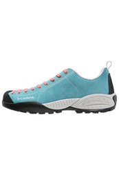 Scarpa Mojito Hiking Shoes Icefall Coral Red Turquoise