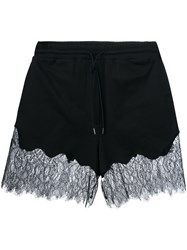 Mcq By Alexander Mcqueen Lace Trim Drawstring Shorts Black