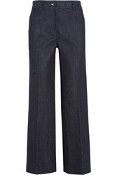Calvin Klein Collection Cropped High Rise Flared Jeans Indigo