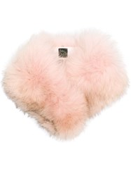 Mr And Mrs Italy Fox Fur Collar Pink