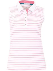 Green Lamb Cora Sleeveless Striped Polo White