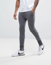Asos Lightweight Extreme Super Skinny Joggers In Charcoal Marl Charcoal Marl Grey