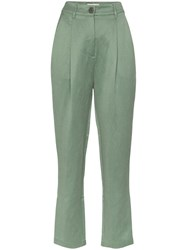 Mara Hoffman Dita Straight Leg Trousers Green