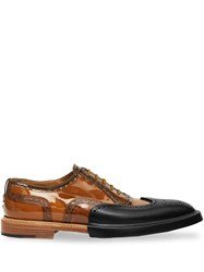 Burberry Toe Cap Detail Vinyl And Leather Oxford Brogues 60