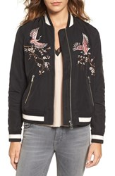 Trouve Women's Embroidered Bomber Jacket