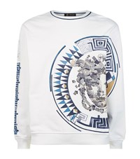 Versace Graphic Medusa Sweater Male White