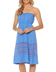 Jessica Simpson Strapless Cover Up Dress Blue