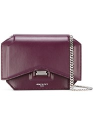 Givenchy Mini 'Bow Cut' Crossbody Bag Pink And Purple