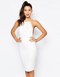 Missguided Cami Cross Back Bodycon Dress White