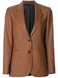 Paul Smith Fitted Tailored Blazer Cupro Wool Brown