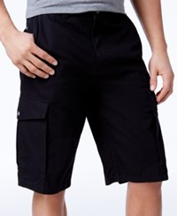 Lrg Men's Rip Stop Cargo Shorts Black