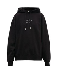Acne Studios Broken Logo Cotton Hooded Sweatshirt Black