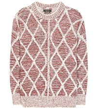 Isabel Marant Elliot Knitted Wool Sweater Red