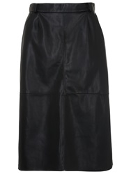 French Connection Patrice Pleather Skirt Black