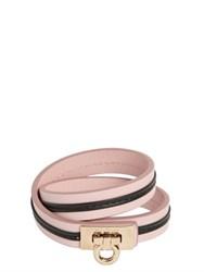 Salvatore Ferragamo Double Strap Leather Bracelet