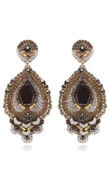 Ranjana Khan Bead Drop Earrings Grey