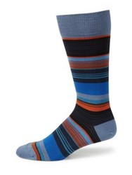 Paul Smith Striped Woven Socks Red Royalblue