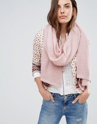 Pieces Ribbed Oversized Blanket Scarf Misty Rose Pink