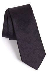 The Tie Bar Floral Silk Purple