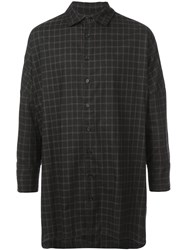Casey Casey Oversized Checked Shirt Black