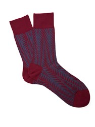 Falke Massai Cotton Blend Socks Pink Multi