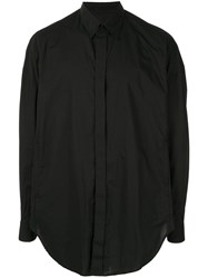 Julius Concealed Button Up Shirt Black