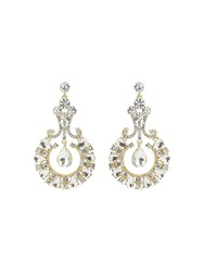 Mikey Large Crystal Crescent Drop Earring Silverlic