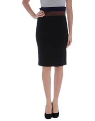 Albino Knee Length Skirts Black