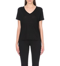 J Brand Janis V Neck T Shirt Black
