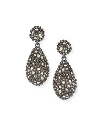 Alexis Bittar Pave Teardrop Crystal Earrings Silver