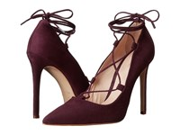 Massimo Matteo Lace Up Mid Heel Red Suede High Heels