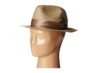 Stacy Adams Toyo Fedora With Snap Brim And 3 Pleat Silk Band Taupe Fedora Hats