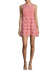 Red Valentino Tiered Scalloped Shirtdress Confetto