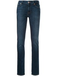 7 For All Mankind Kimmie Straight Leg Jeans Blue