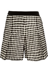 Proenza Schouler Flocked Tweed Shorts Black
